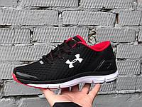 Мужские кроссовки Under Armour SpeedForm Gemini черно белые \ красные