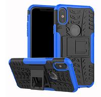 Противоударный чехол Протектор Armored для Xiaomi Redmi Note 8T с подставкой Цвет синий