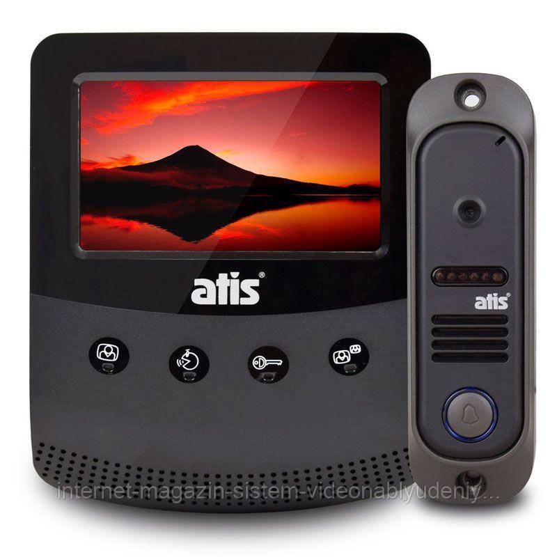 Комплект видеодомофона ATIS AD-430 Kit box Черный