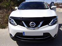 Мухобойка, дефлектор капота Nissan Qashqai 2014-/2017- (Sim), фото 1