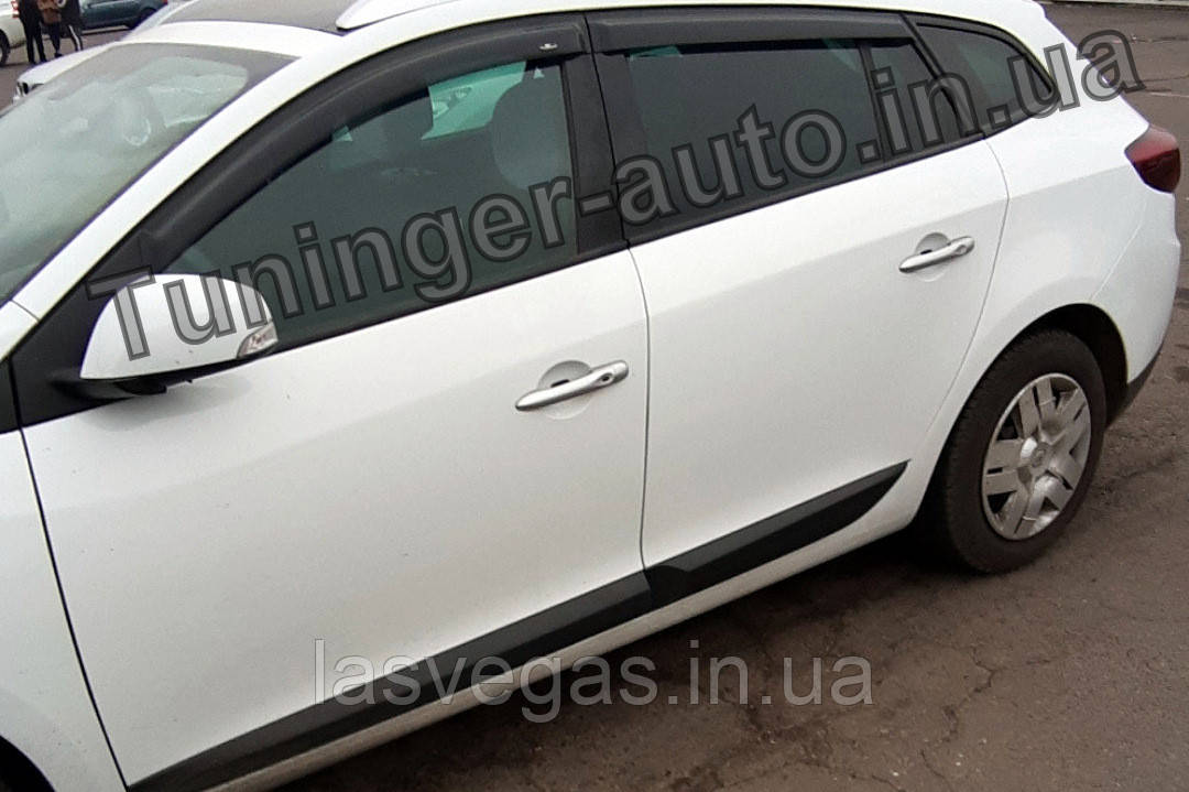 Вітровики, дефлектор вікон Renault Megane Grandtour III (Рено Меган універсал 3) 2009-2014 (Hic)