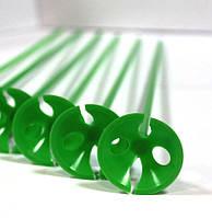 Палочка держатель для воздушного шарика зеленая