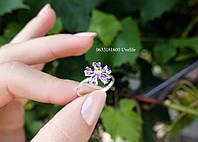 Серебряное кольцо Цветочек, фото 1