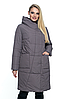 Весенняя куртка длинная, арт. ЛД102-1, цвет капучино