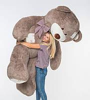 Плюшевый мишка Mister Medved с латками Капучино 2 м 50 см, фото 1