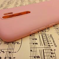 Силиконовый матовый чехол SMTT Candy для Xiaomi Redmi Note 8 Pro (Пудровый)