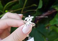 Кольцо Стрекоза серебро, фото 1