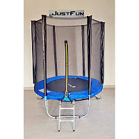 Батут Just Fun диаметром 183 см для детей спортивный с сеткой