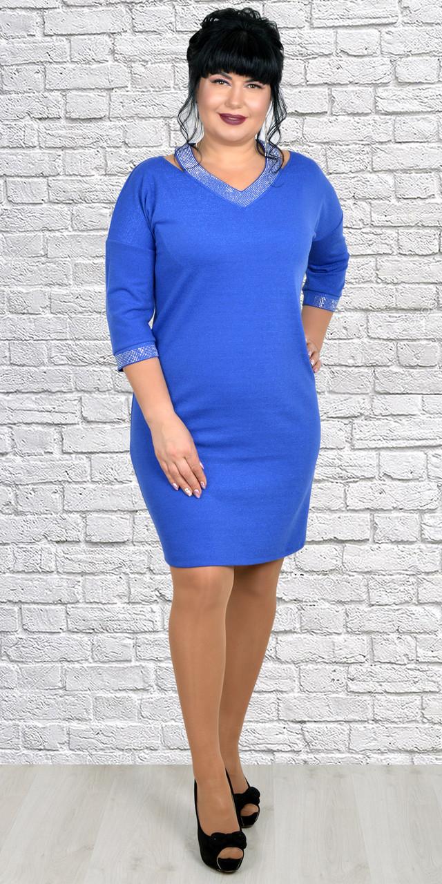 Облегающее молодежное платье с блеском 50-56