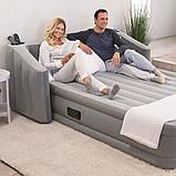 Надувная кровать Bestway 67620, (196 х 233 х 80) , (встроенный электронасос, подсветка, спинка), фото 7