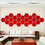 Акрилове дзеркало «Сота» 1 шт 265×230×132 мм ×1 мм червоне, фото 4