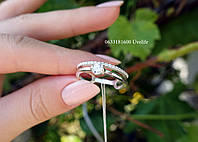 Двойное кольцо серебро 925
