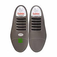 Силиконовые шнурки для классической обуви Coolnice Classic 5+5 Черный (2d-321)