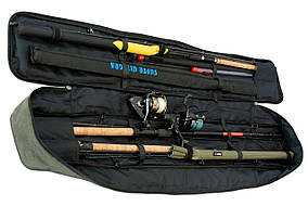 Чехол для удилищ SkyFish Серый 130 см с фиксаторами