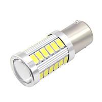 LED лампа в автомобиль 1156 BA15S P21W, 33 SMD, белая