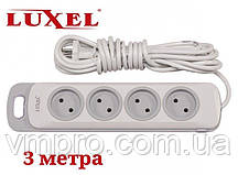 Сетевой удлинитель Luxel Nota 4 розетки, удлинители без заземления
