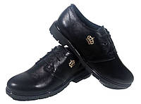 Туфли женские комфорт натуральная кожа черные на шнуровке (906М)