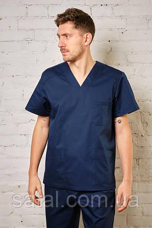"""Медицинский костюм """"Брюс NEW"""". Темно-синий. Рукав короткий. Саталь, фото 2"""