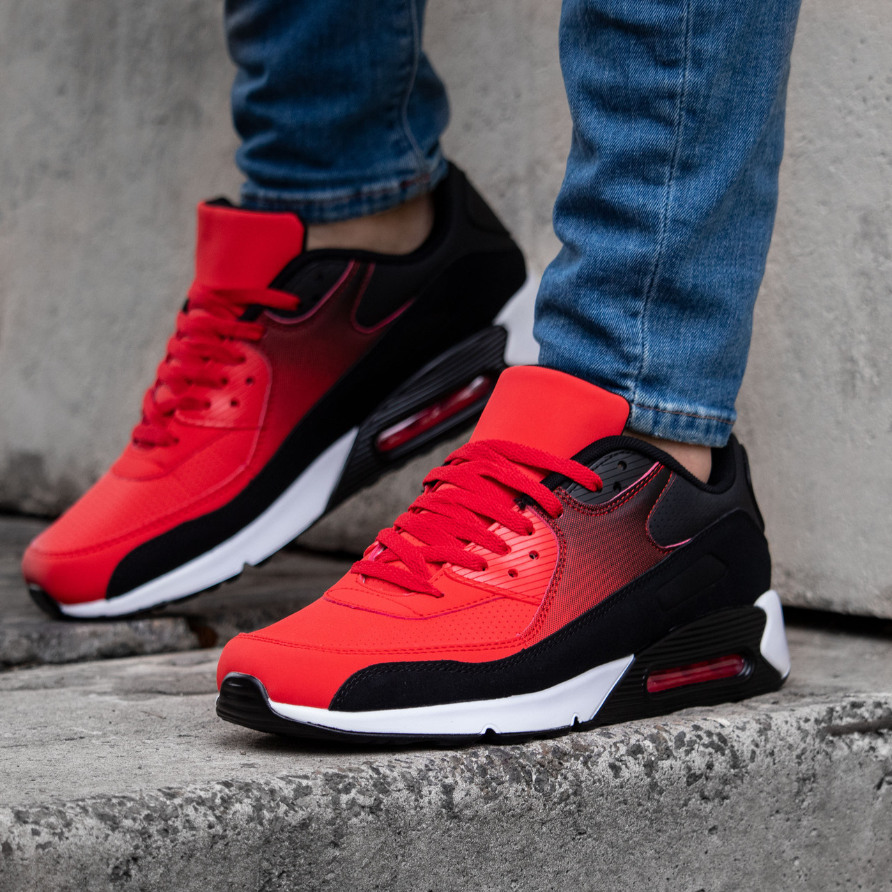 Мужские кроссовки в стиле Nike Air Max 90 обувь мужская демисезонная Размеры (41,42,43,44,45,46)