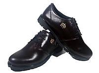 Туфли женские комфорт натуральная кожа коричневые на шнуровке (906М)