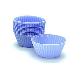 Силиконовая форма для выпечки кексов - набор (12 шт.) Stenson