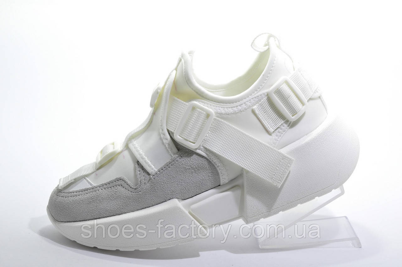 Белые Кроссовки Buffalo на танкетке 2020, Буффало обувь