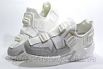 Белые Кроссовки Buffalo на танкетке 2020, Буффало обувь, фото 2