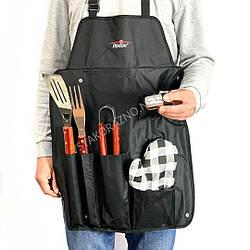 Набір для барбекю з фартухом - набір інструментів для мангалу / Набір для барбекю з фартухом