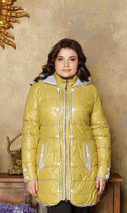 Куртка женская холофайбер горчица