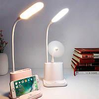Светодиодная настольная лампа с держателем для телефона USB с аккумулятором