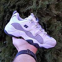 Женские кроссовки в стиле Skechers D'Lites белые с серым