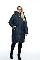 Длинная куртка большого размера, арт. ЛД106-1, цвет синий, фото 1