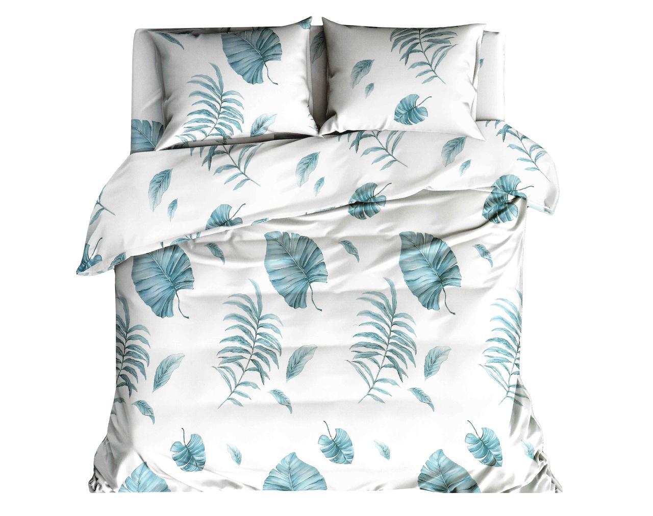 Комплект постельного белья Хлопковый Молодежный 045 M&M 5583 Синий, Белый