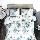Комплект постельного белья Хлопковый Молодежный 045 M&M 5583 Синий, Белый, фото 2