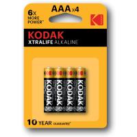 Батарейки KODAK XTRALIFE LR03, по 4 штуки в блистере