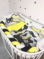 """Комплект бортиков в детскую кроватку """"Маленький Бетмен"""""""
