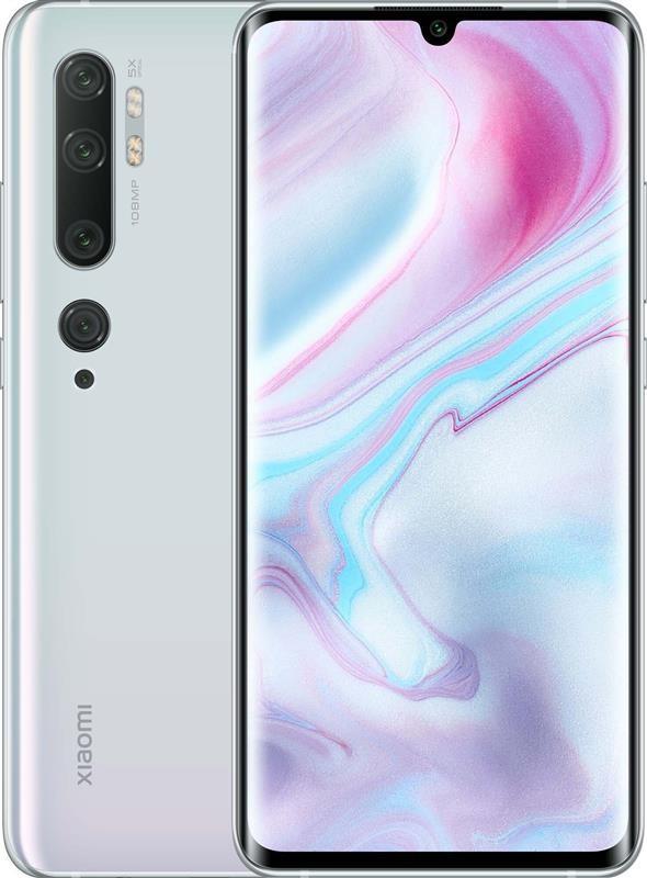 "Смартфон Xiaomi Mi Note 10 6/128GB Dual Sim Glacier White; 6.47"" (2340х1080) AMOLED / Qualcomm Snapdragon 730G / ОЗУ 6 ГБ / 128 ГБ встроенной / камера"