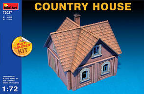 Сельский дом. Сборная модель. 1/72 MINIART 72027