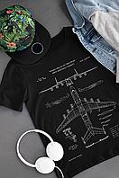 """""""АН-225 Мрія"""" Футболка з оригінальним принтом Найбільший вантажний літак на планеті"""