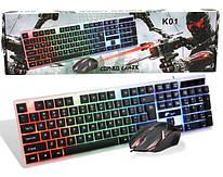 Клавиатура и мышь с подсветкой  M416 Gaming Keyboard