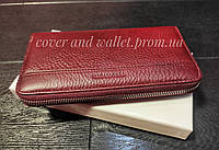 Женский кошелек на молнии из натуральной кожи борового цвета Marco Coverna
