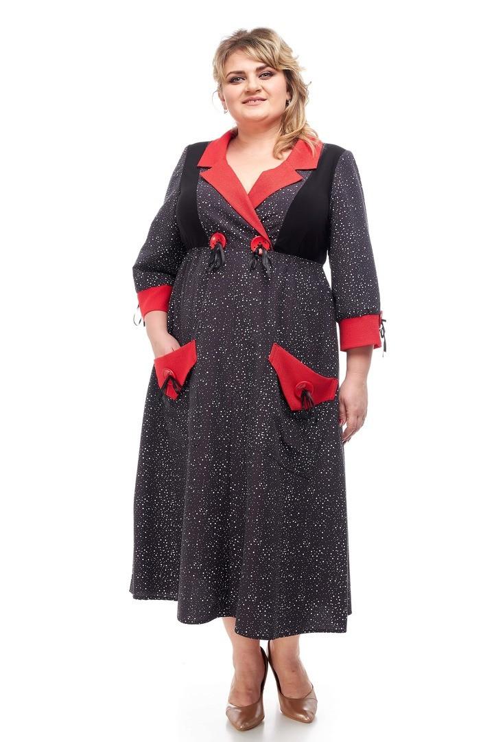 Красивое женское платье батал Алиса 2 цвета (58-72)