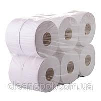 Туалетная бумага джамбо белая 1-шар 200 м. Eco Point Natural, фото 3