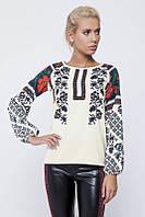 Блуза вышиванка женская Nenka 128-с01 (шифон)