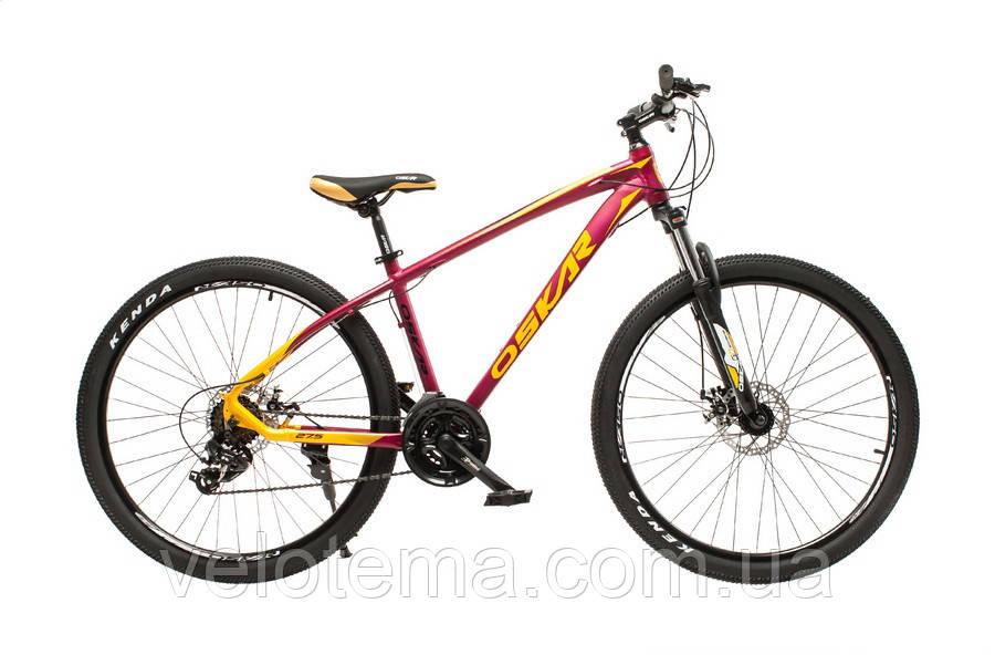 """Велосипед Oskar 27,5"""" М103 бордовый"""