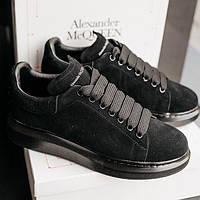 Женские кроссовки Alexander McQueen Black 1в1 Как Оригинал! ТОП (ААА+)