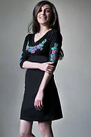 Плаття з вишивкою Вінок Дунаю фіолетовий