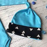 Голубой костюм, комплект на мальчика Miniworld 71. Размер 68 см, 74 см, фото 3