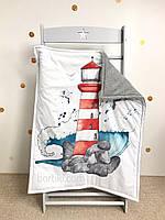 Дитяча ковдра-одіяльце із сатину, детское одеяло-плед из сатина