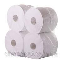 Туалетная бумага белая джамбо 1-шар 340м Eco Point Natural, фото 3